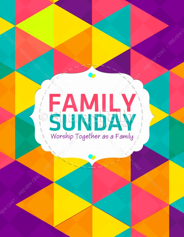 family sunday worship flyer template flyer templates. Black Bedroom Furniture Sets. Home Design Ideas