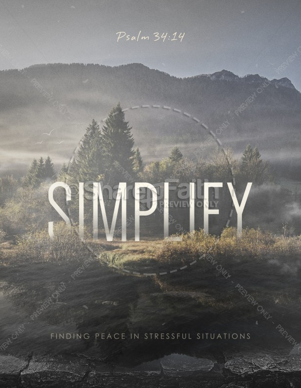 Simplify Ministry Church Flyer