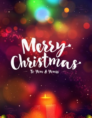 Merry Christmas To You And Yours Ministry Flyer Template
