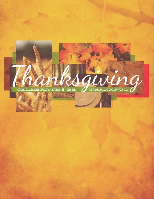 Thanksgiving Fall Christian Flyer