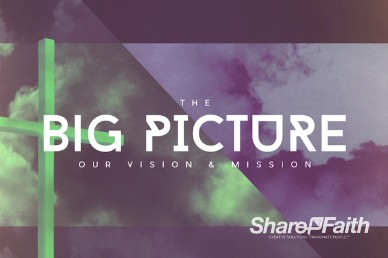 The Big Picture Missions Ministry Title Background Video