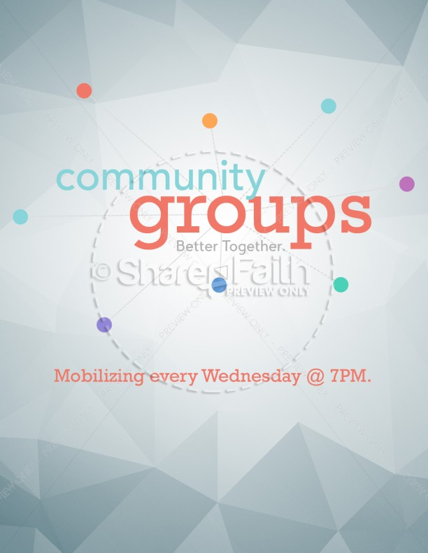 Community Groups Ministry Flyer