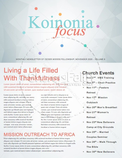 Community Groups Ministry Newsletter | page 1