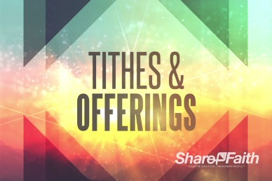 Sermon on the Mount Ministry Tithes and Offerings Video Loop