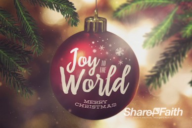 Joy to the World Christmas Title Video