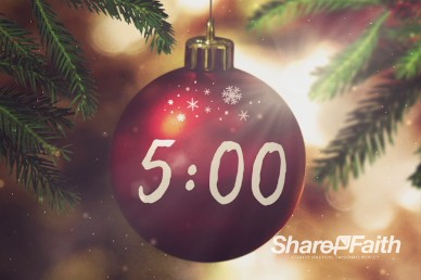 Joy to the World Christmas Five Minute Countdown Timer