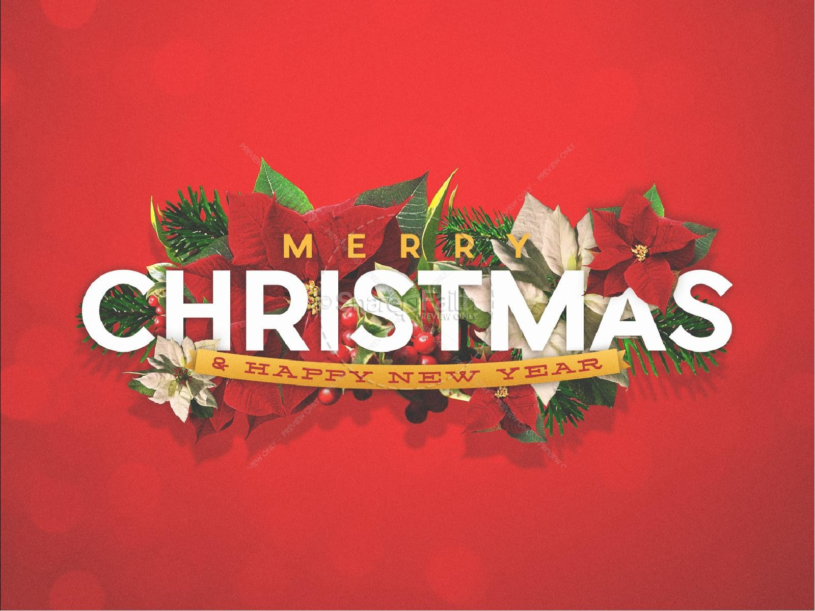 Merry Christmas Happy New Year Christian PowerPoint