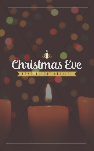Christmas Eve Candlelight Service Ministry Bulletin