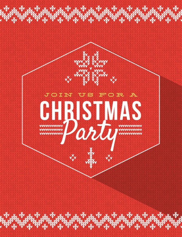 Christmas Party Announcement Christmas Flyer