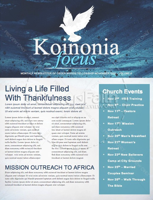 Fall Winter Religious Newsletter  | page 1