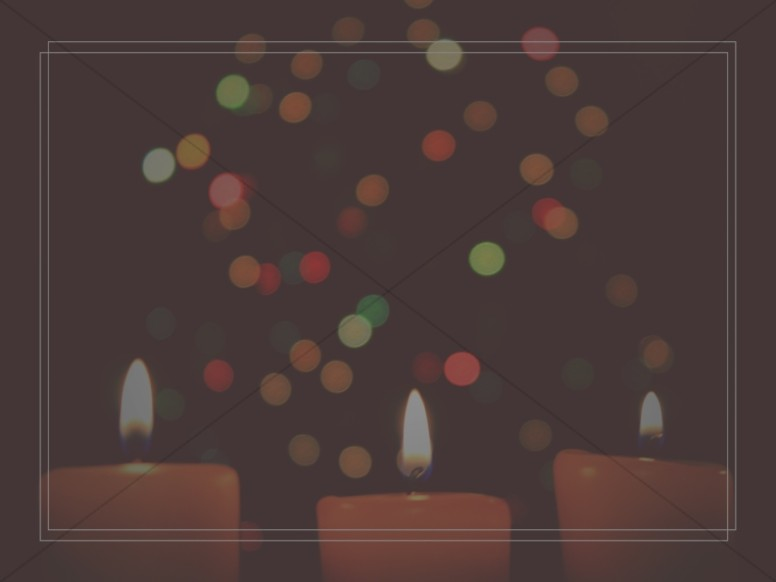 Christmas Eve Candlelight Service Ministry Background