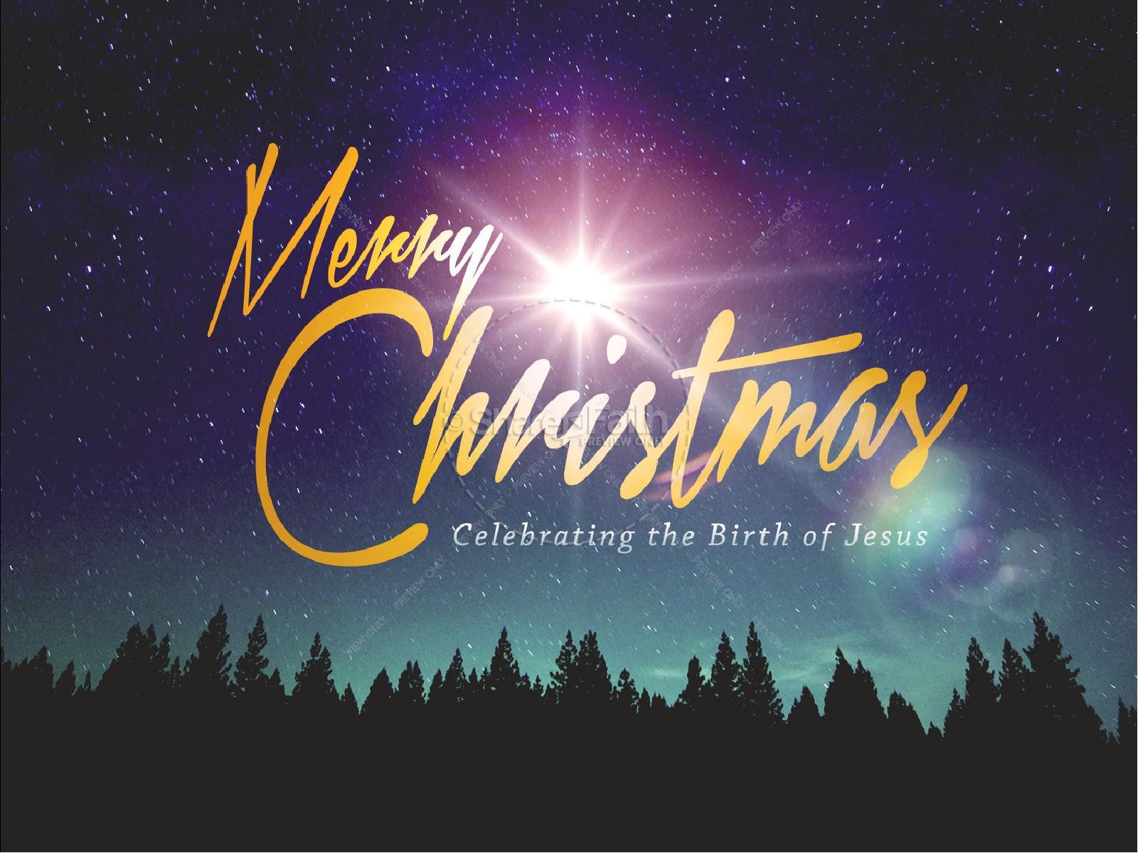Merry Christmas Bright Star Ministry PowerPoint   slide 1