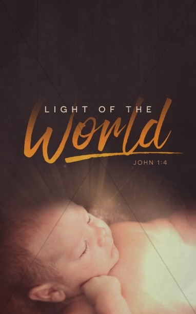 Light of the World Christmas Church Bulletin