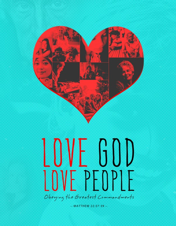 Love God Love People Christian Flyer