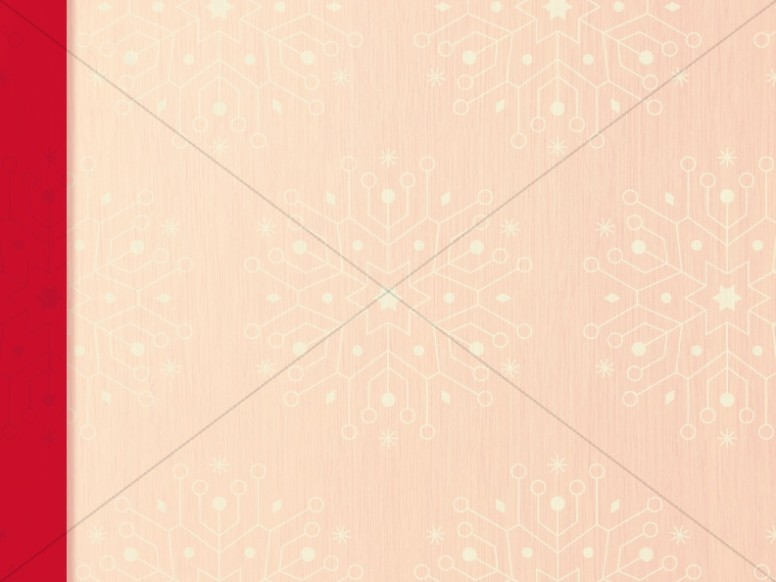 Snowflake Christmas Invitation Ministry Background Graphic