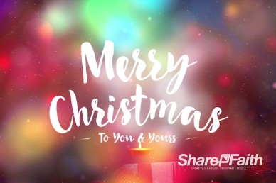 Merry Christmas to You and Yours Ministry Title Background Video