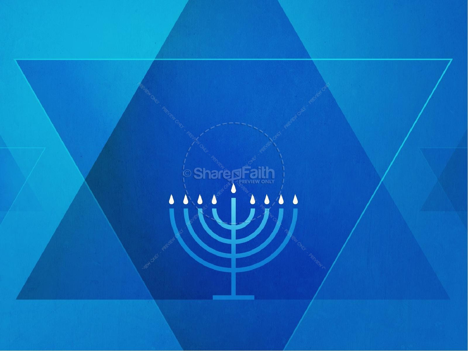 Hanukkah Celebration of Lights Church PowerPoint