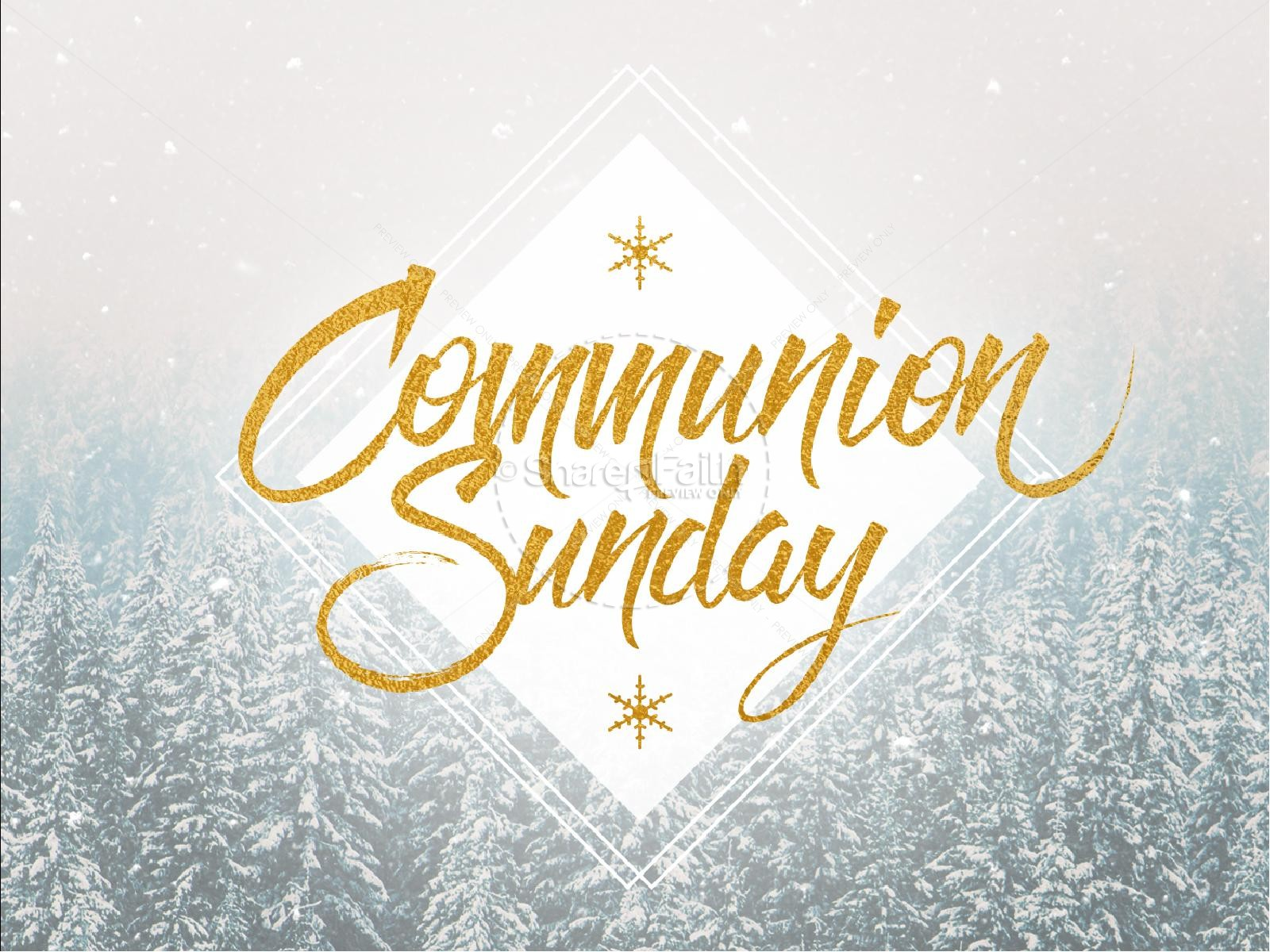Winter Communion Sunday Christian Sermon PowerPoint