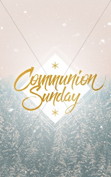 Winter Communion Sunday Christian Church Bulletin