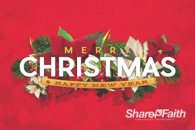 Merry Christmas Happy New Year Christian Title Video Background