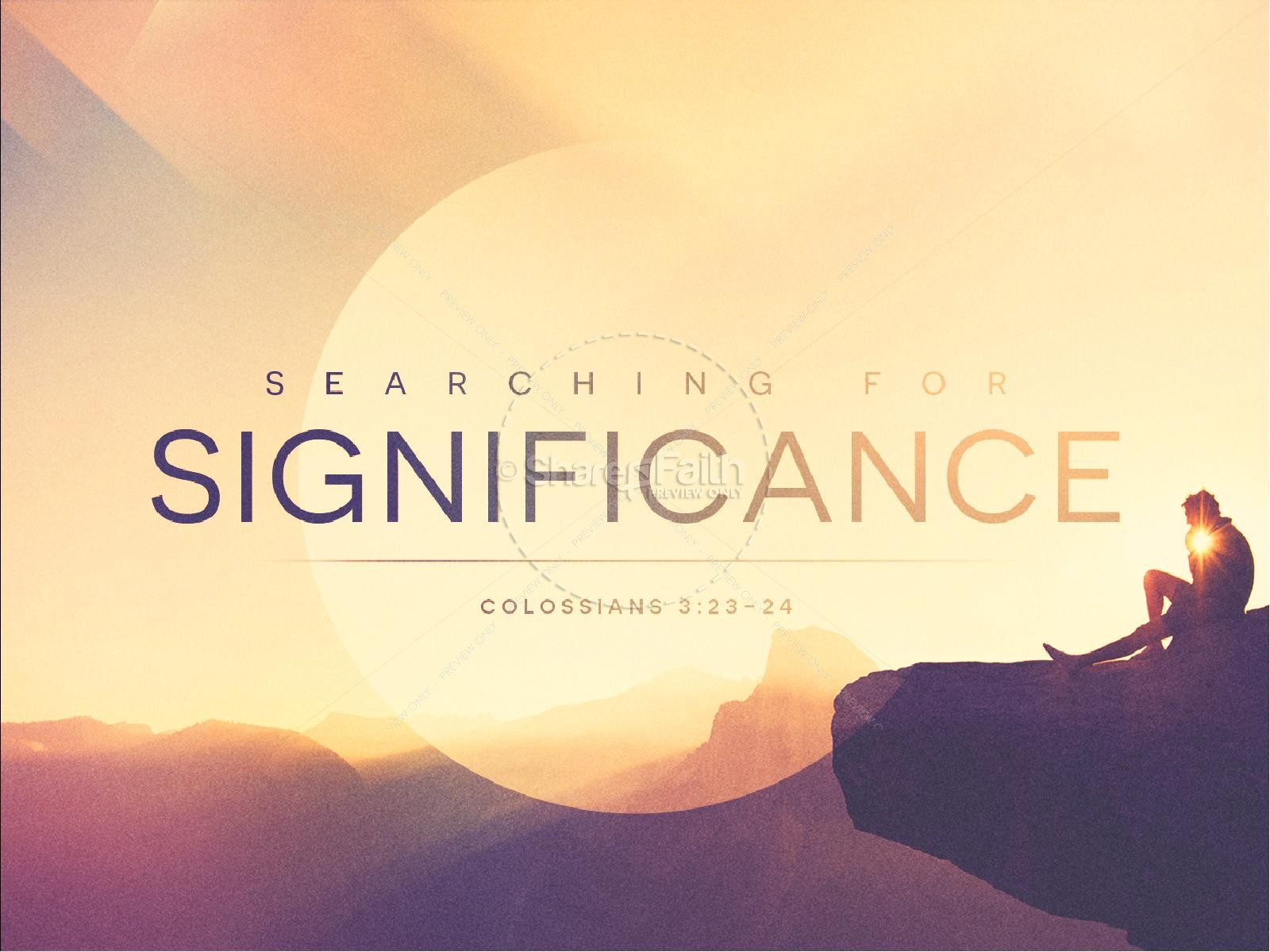 Searching for Significance Ministry Sermon PowerPoint | slide 1
