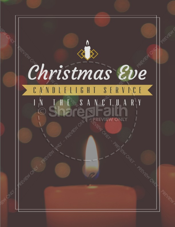 Christmas Eve Candlelight Service Ministry Flyer