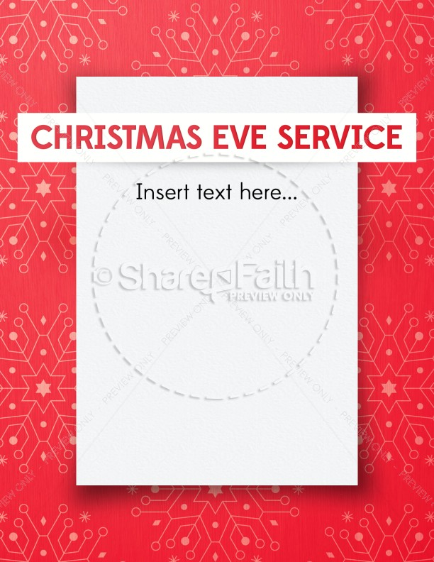 Snowflake Christmas Invitation Ministry Flyer