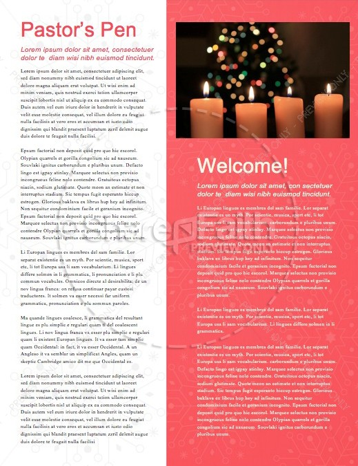 Snowflake Christmas Invitation Ministry Newsletter