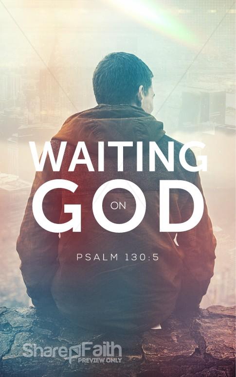 Waiting On God Church Bulletin Sermon Bulletin Covers