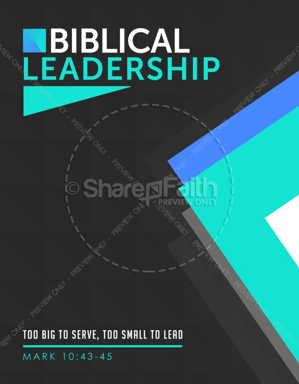 Biblical Leadership Church Flyer