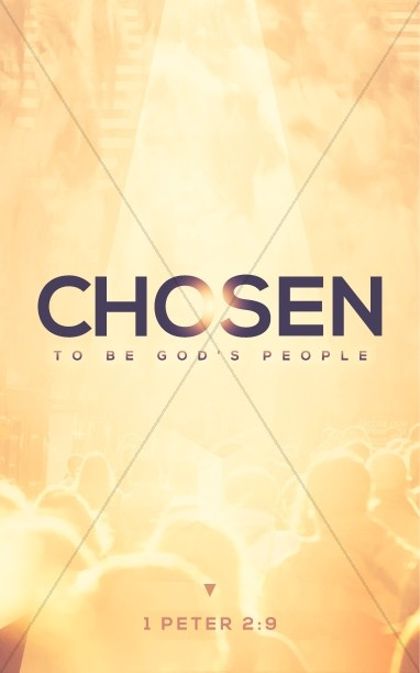 Chosen to Be God's People Church Bulletin Cover