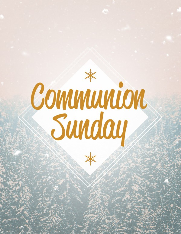 Winter Communion Sunday Church Flyer