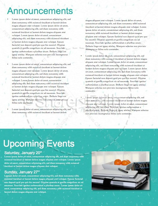 New Year's Greeting Church Newsletter   page 4