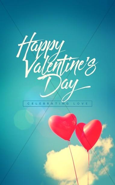 Celebrating Love Valentine's Day Church Bulletin Cover