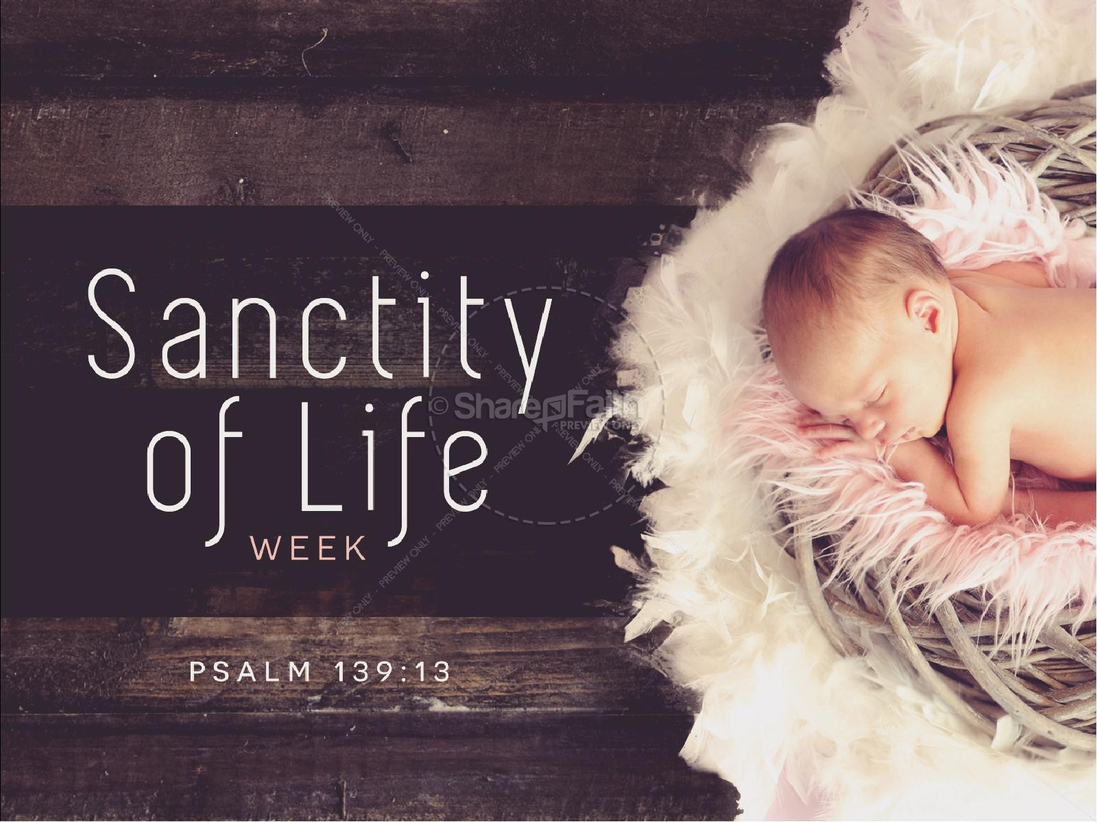 Sanctity of Life Week Church PowerPoint