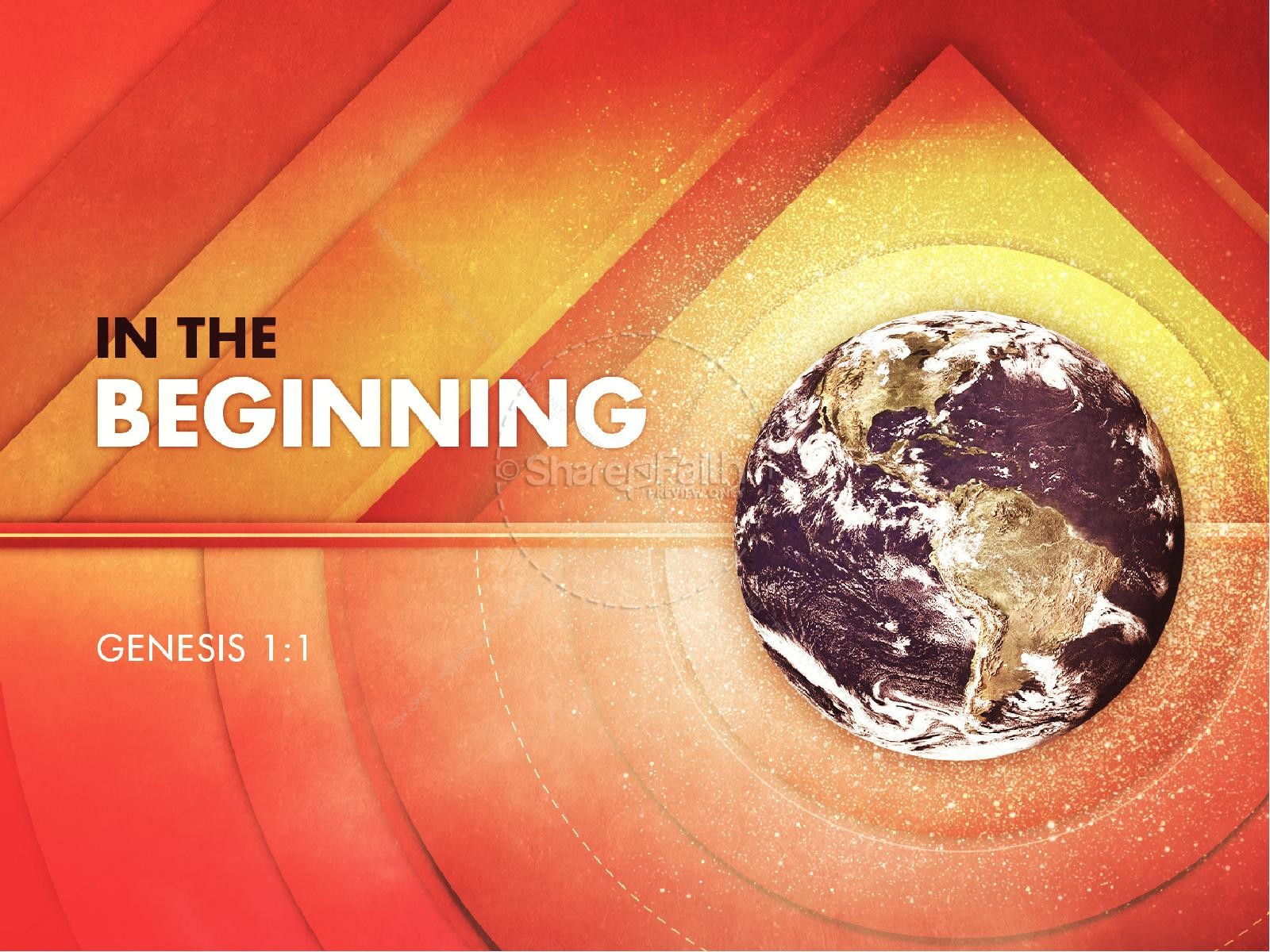 Genesis In the Beginning Church PowerPoint