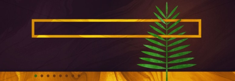 Palm Sunday Modern Church Website Banner