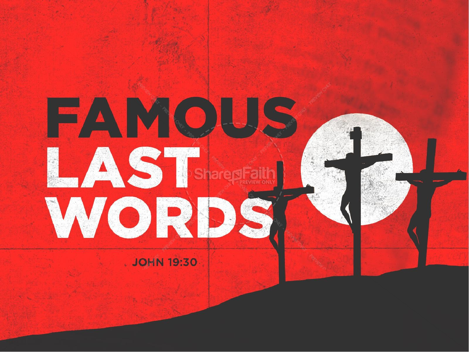 Famous Last Words Good Friday PowerPoint