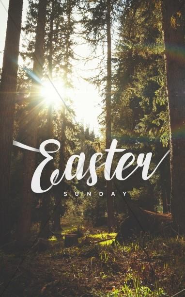 Easter Sunday Forest Church Bulletin