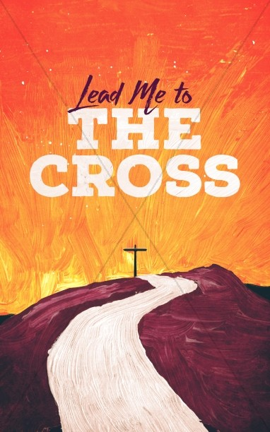 Lead Me to the Cross Painted Church Bulletin