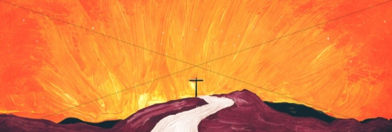 Lead Me to the Cross Painted Church Website Banner