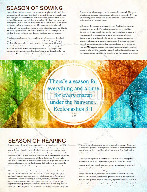God of All Seasons Church Newsletter