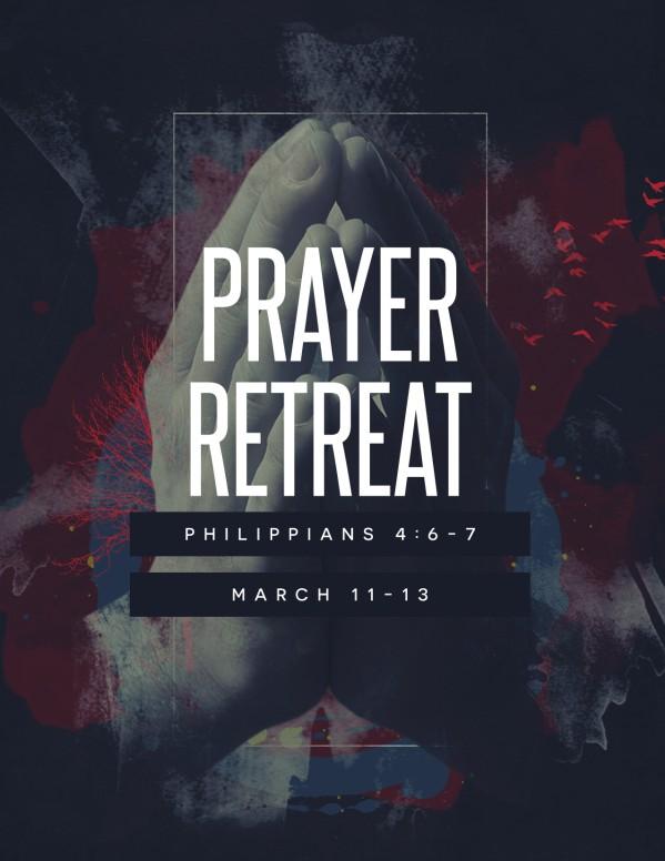 Let Us Pray Church Flyer