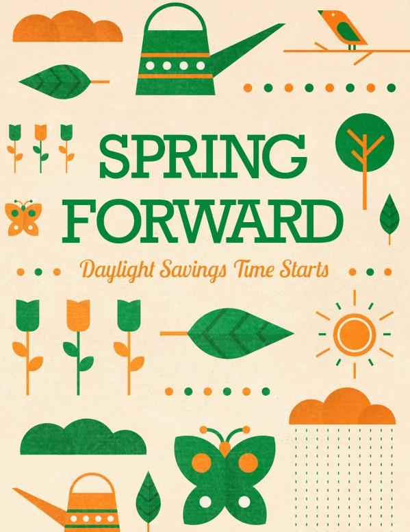 Spring Forward Daylight Saving Church Flyer
