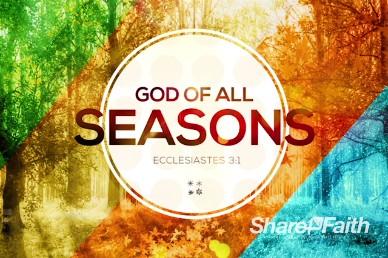 God of All Seasons Title Church Video Loop