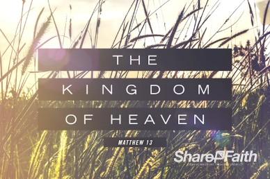 Kingdom of Heaven Wheat Sermon Intro Video Loop