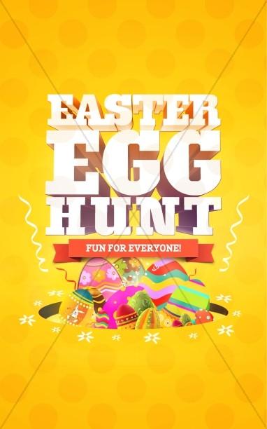 Easter Egg Hunt Church Bulletin