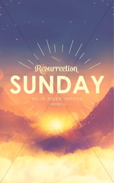 Resurrection Sunday Sunrise Church Bulletin