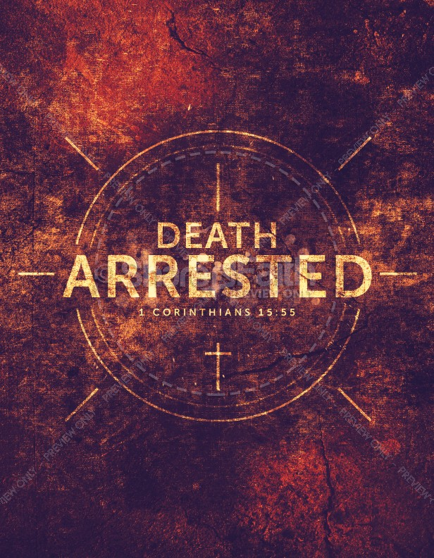 Death Arrested Church Flyer