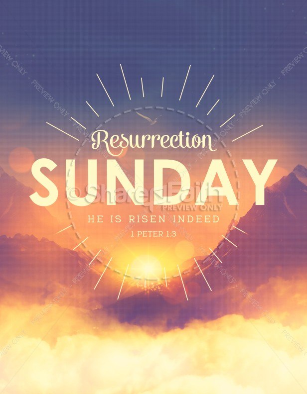 Resurrection Sunday Sunrise Church Flyer